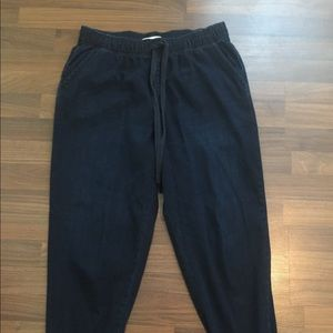 Abercrombie and Fitch Dark Blue Jogger Pants